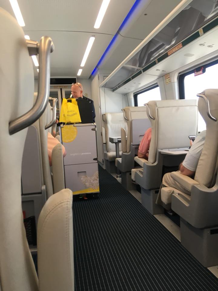 Brightline interior